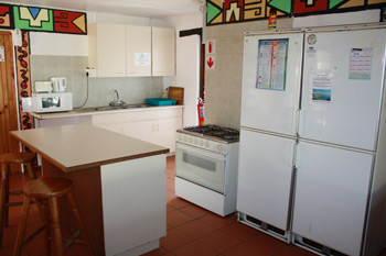 Windstone backpackers Kitchen