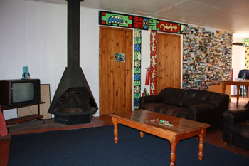 Communial Lounge and fireplace